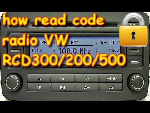 volkswagen radio rcd300 how you can read pin code with. Black Bedroom Furniture Sets. Home Design Ideas
