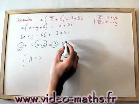 Equation Nombre Complexe Avec Conjugue Youtube