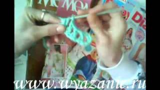 Урок №4.Учимся читать схемы и вязать шишечки.mp4(Видеоурок по вязанию крючком. Учимся читать схемы и вязать шишечки., 2011-02-14T20:05:53.000Z)