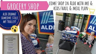 ALDI SHOPPING WITH KIDS // COME SHOP WITH ME // TROLLEY DRAMA // FOOD SHOP & MEAL PLAN