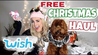 "Ordering ""FREE"" Christmas WISH.COM Products // Vlogmas Day 1"