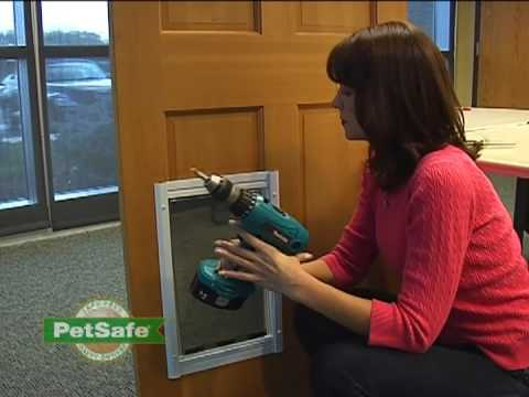 Petsafe how to replace the classic pet door flap youtube - Interior door with pet door installed ...