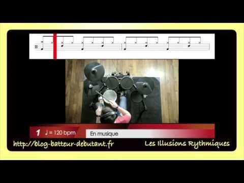 Batteur Debutant Exercice Sur Les Illusions Rythmiques A La Batterie Youtube