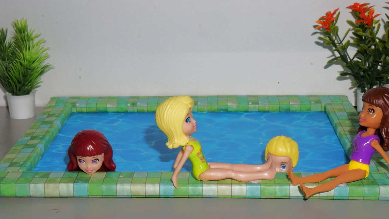 How To Make A Doll Swimming Pool Miniature Crafts Diy Youtube