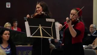 Baroque Ensemble playing for President Michael D. Higgins at the  Irish World Academy