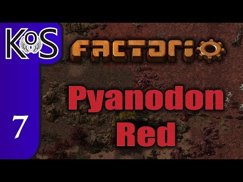 Factorio Pyanodon Red Ep 7: BEGINNING BIOLOGICAL SAMPLES - 0.16 - Gameplay, Let's Play
