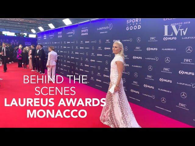 BTS Lindsey Vonn Laureus Awards in Monaco