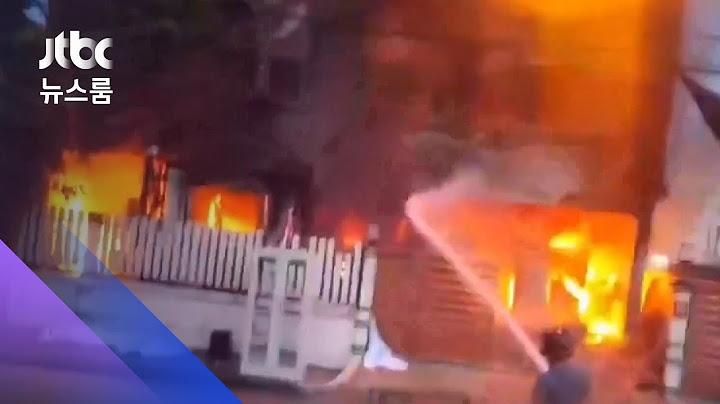 태국서 화재로 3층 건물 붕괴…소방관 등 5명 숨져 / JTBC 뉴스룸