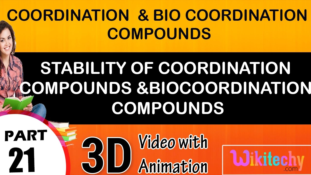 Stability of coordination compounds and bio coordination compounds class 12  chemistry notes cbse