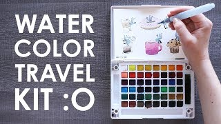 LEAVING THE HOUSE TO DRAW?! - Koi Watercolor Travel Kit
