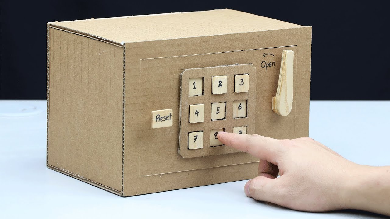 Download Build a Safe with Combination Number Lock from Cardboard
