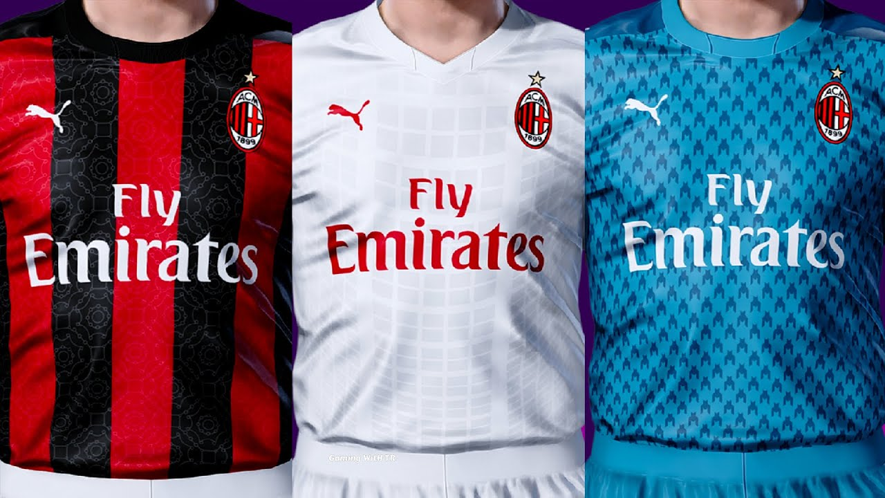 PES 2020 | AC MILAN KITS 2020/2021 | UNOFFICIAL VERSION | DOWNLOAD &  INSTALL - YouTube