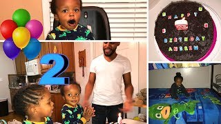 2 YEAR OLD BIRTHDAY SURPRISE WITH PJ MASKS & CHOCOLATE CAKE (VLOG)
