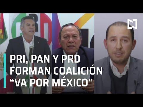 PAN, PAN y PRD anuncian alianza 'Va por México' - Hora 21