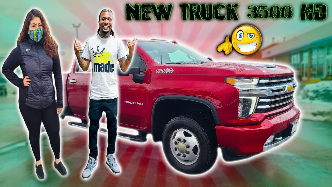 TRUCK SHOPPING TOOK VANESSA FOR A RIDE IN THE NEW 2021 3500 HD HIGH COUNTRY SILVERADO - download from YouTube for free