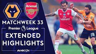 Wolves v. Arsenal | PREMIER LEAGUE HIGHLIGHTS | 7/4/2020 | NBC Sports