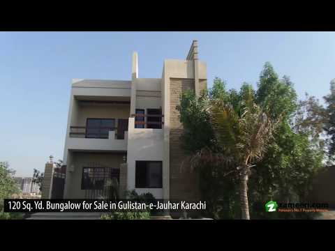120 Sq  Yd  FOUR BEDROOMS BUNGALOW FOR SALE IN KINGS GARDEN GULISTAN