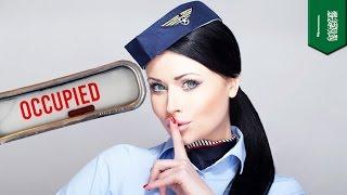 Стюардессу застукали за сексом в туалете самолёта