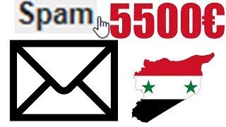 Syrischer Email Betrüger will 5500€ klauen