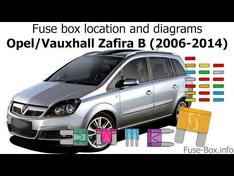 Fuse box location and diagrams: Opel / Vauxhall Zafira B ... Vauxhall Zafira Fuse Box Diagram on