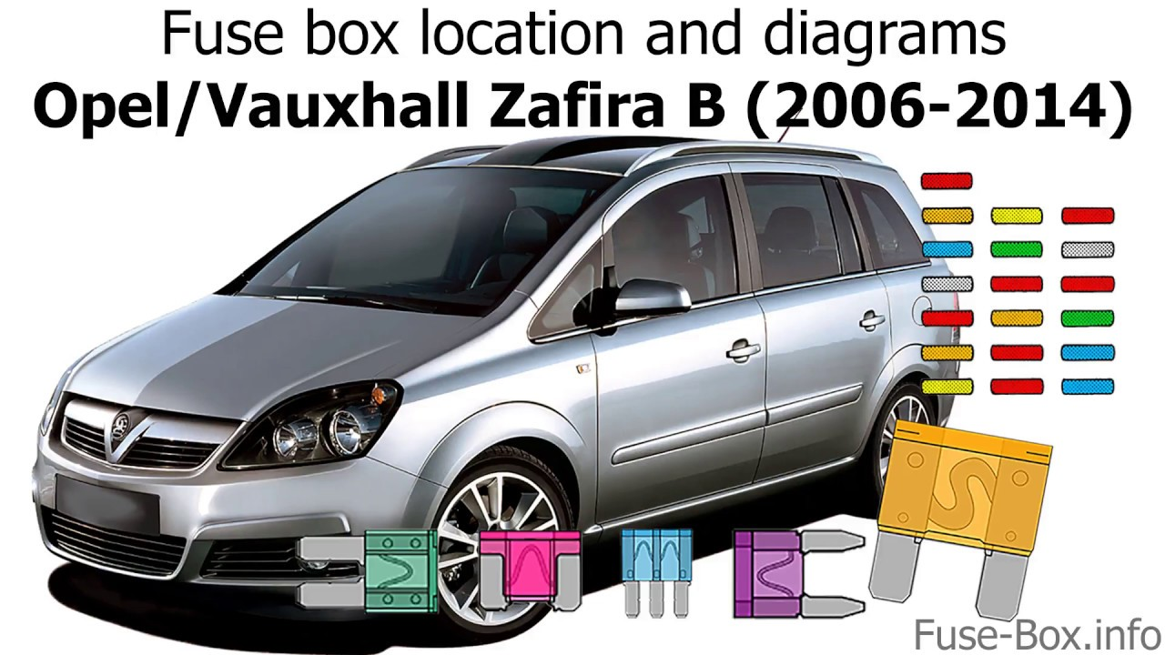 fuse box location and diagrams opel vauxhall zafira b 2006 2014  [ 1280 x 720 Pixel ]