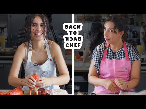Alessia Cara Tries to Keep Up with a Professional Chef | Back-to-Back Chef | Bon Apptit