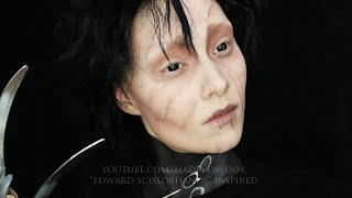 Edward Scissorhands Makeup Tutorial