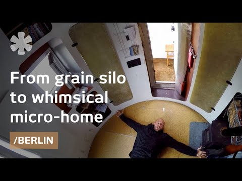 Old silo now spaceship-esque tiny home in Berlin