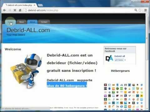 """tuto www.debrid-all.com """" free debrid / debrideur gratuit """""""