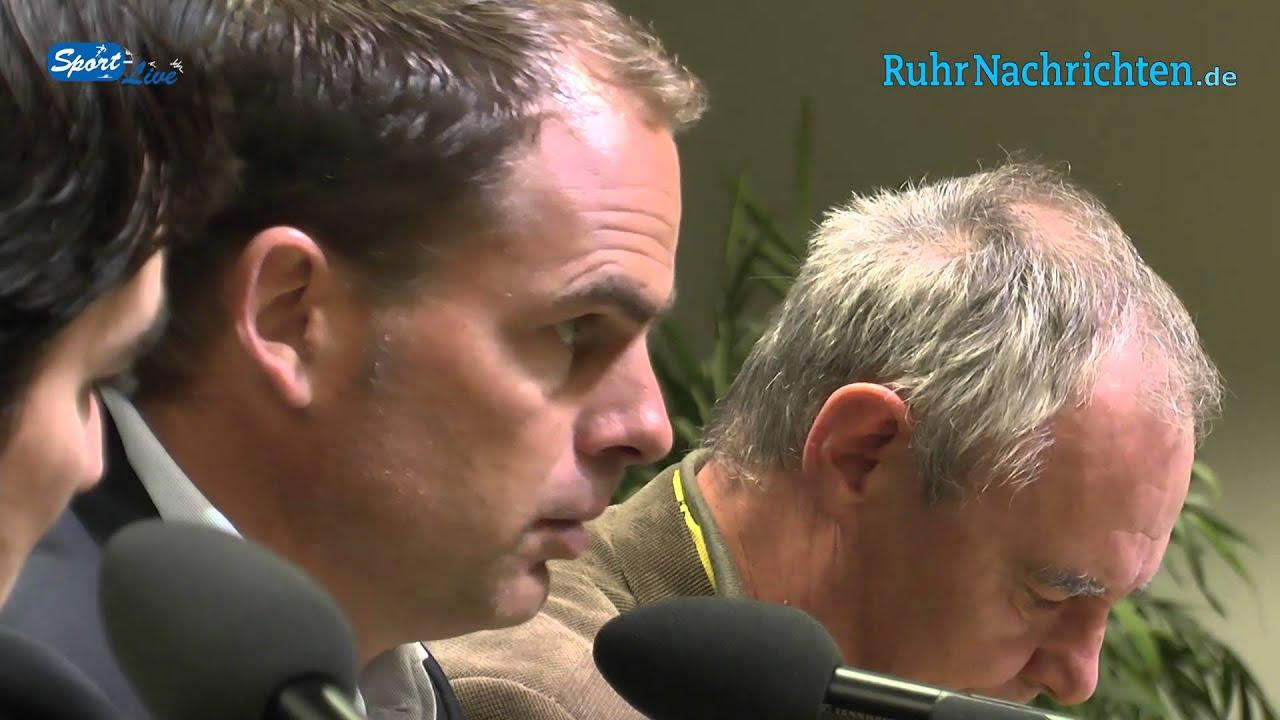 Borussia Dortmund - Ajax Amsterdam: Die PK mit AFC-Coach Frank de Boer