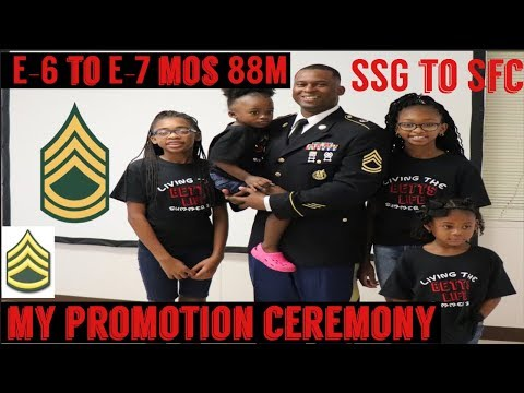 Promotion To Sergeant First Class (E-7) | Promotion SSG To SFC | 88M