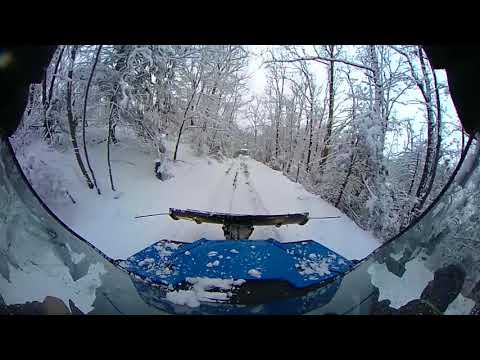 2017 Honda Pioneer 1000-5 Plowing Heavy Wet Snow