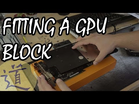 How to water cool a pc - fitting GPU water blocks