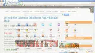 How to Remove Delta-Homes Homepage From Your Web Browser