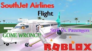 Staff Vs. Passengers   South Jet Flight   ROBLOX - Nassau Airport