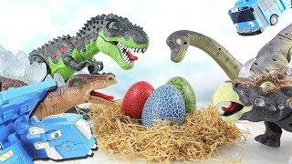 Whose Dinosaur eggs? Jurassic park Surprise Dinosaurs egg! Fun Toy Microwave Dinotrux 공룡알 부화