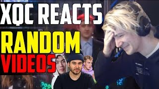 xQc REACTS TO RANDOM VIDEOS #4 (H3H3, Ricegum, curb your meme)