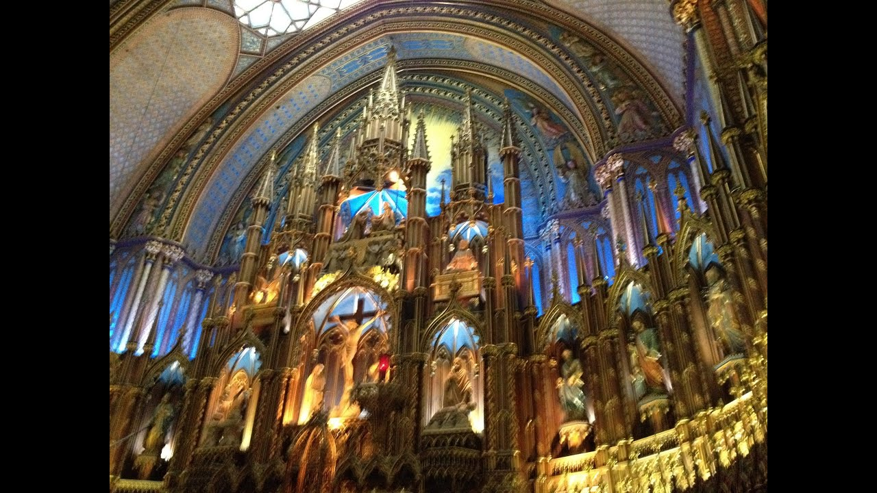 First View Inside Notre Dame Basilica In Montreal