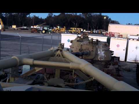Unloading/Moving the M48A1 w/M8 Dozer Blade