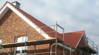 Двускатная мансардная крыша со