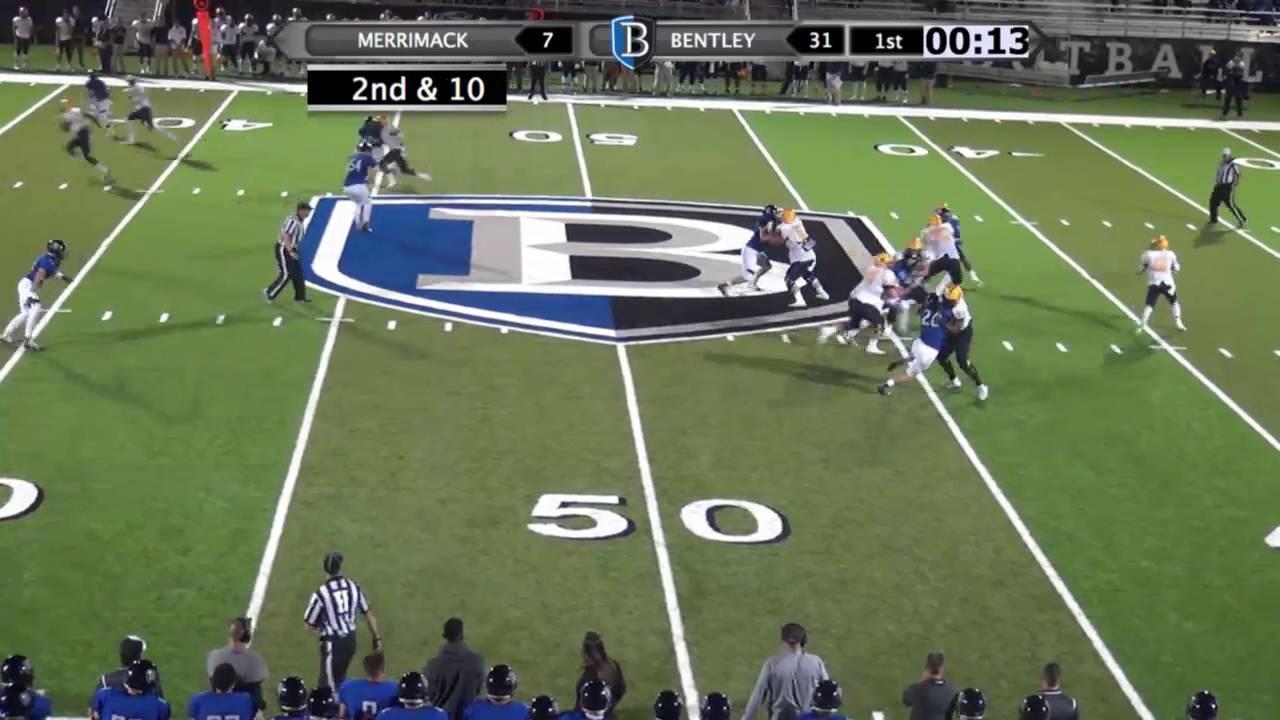 Bentley Football Highlights vs. Merrimack 9-16-16 - YouTube