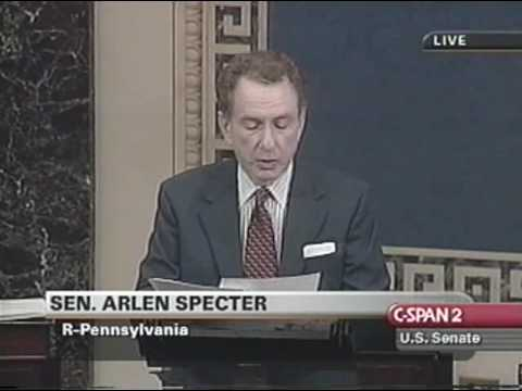Sen. Specter 2001 Rule to Prevent Party Switching