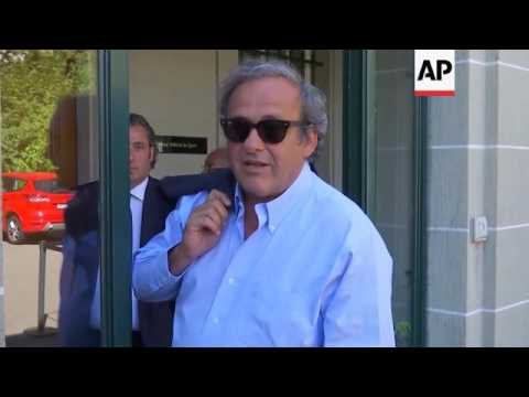 Platini arrives at Court of Arbitration for Sport