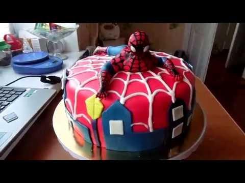 Торт бисквитный человекпаук