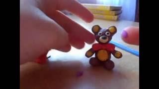 Как слепить мишку за 15 минут из пластилина
