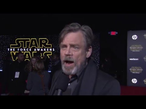 Star Wars The Force Awakens World Premiere Interview - Mark Hamill