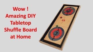 Wow ! Amazing DIY Tabletop Shuffle board at Home How to make Know More https://www.youtube.com/c/GsDIYUseful There is