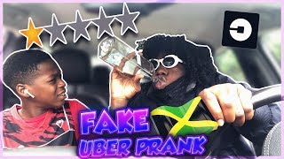 PICKED UP my BROTHER in an UBER UNDER DISGUISE! (WENT TERRIBLE)