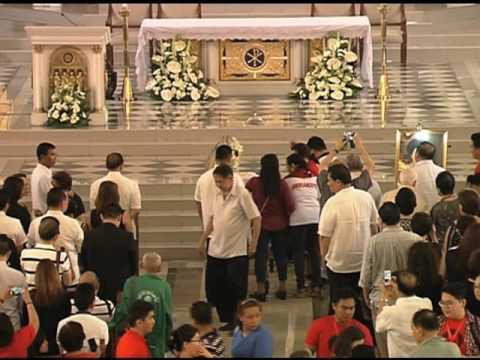 Remains of Miriam Santiago brought for funeral mass