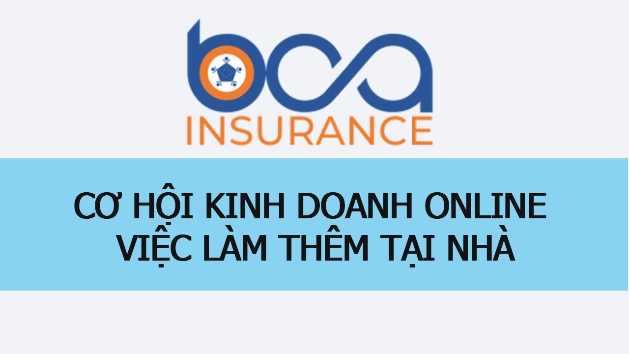 BCA, Cơ Hội Kinh Doanh Online, Việc Làm Thêm Tại Nhà